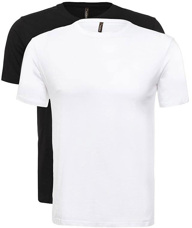 ФутболкаB737082_White-BlackФутболка мужская Baon выполнена из 100% хлопка. Модель с короткими рукавами и круглым вырезом горловины.