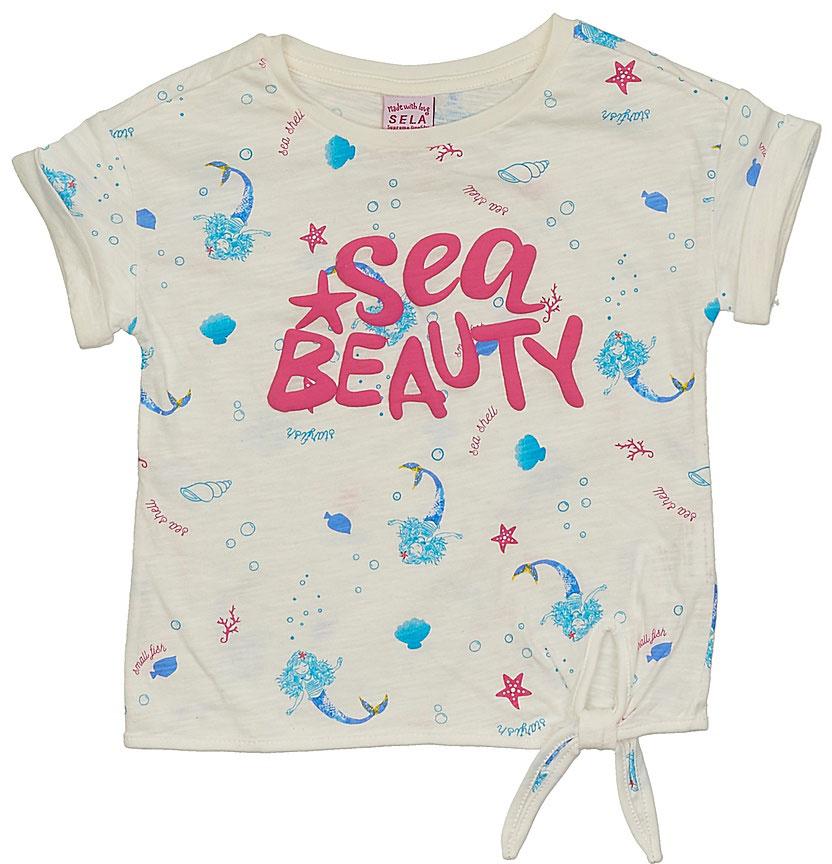 ФутболкаTs-511/330-7233Стильная футболка для девочки Sela выполнена из натурального хлопка и оформлена принтом в морском стиле. Модель прямого кроя с короткими рукавами со спущенным плечом подойдет для прогулок и дружеских встреч, будет отлично сочетаться с джинсами и брюками, а также гармонично смотреться с юбками. Круглый вырез горловины дополнен мягкой трикотажной резинкой. Мягкая ткань комфортна и приятна на ощупь.