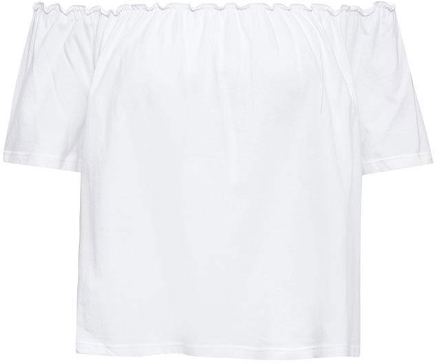 ТопTs-311/1134-7214Оригинальный женский топ Sela выполнен из натурального хлопка. Укороченная модель прямого кроя подойдет для прогулок и дружеских встреч, будет отлично сочетаться с джинсами и брюками, а также гармонично смотреться с юбками. Верх изделия дополнен резинкой, которая позволяет носить топ, как на плече, так и спустив его ниже. Мягкая ткань комфортна и приятна на ощупь.