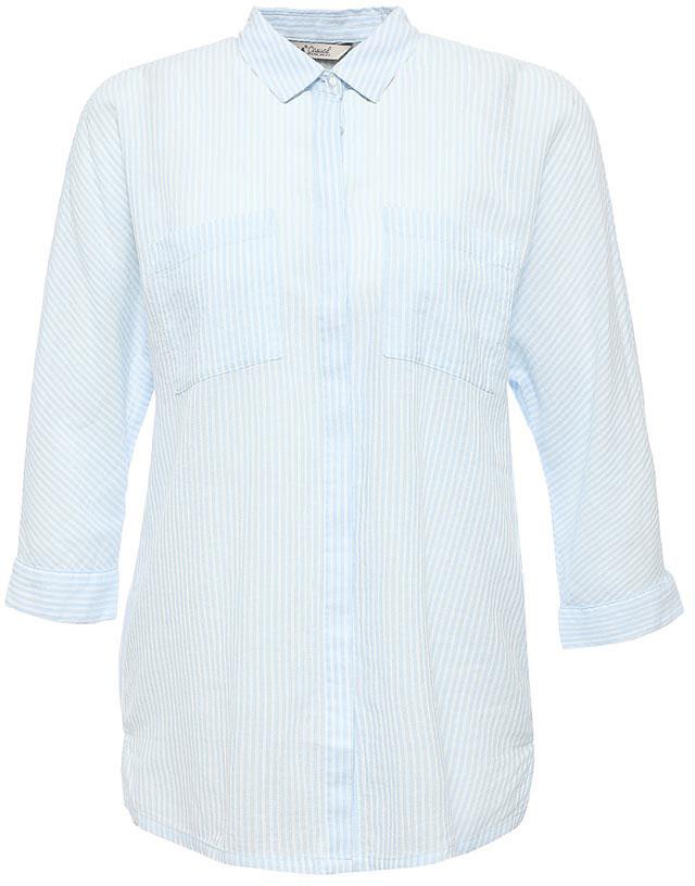 РубашкаB-112/1265-7263Стильная женская рубашка Sela выполнена из натурального хлопка и оформлена принтом в полоску. Модель прямого кроя с удлиненной спинкой и отложным воротничком застегивается на пуговицы, скрытые планкой, и дополнена двумя накладными карманами. Манжеты рукавов длиной 3/4 также дополнены пуговицами. Рубашка подойдет для офиса, прогулок и дружеских встреч и будет отлично сочетаться с джинсами и брюками, и гармонично смотреться с юбками. Мягкая ткань комфортна и приятна на ощупь.