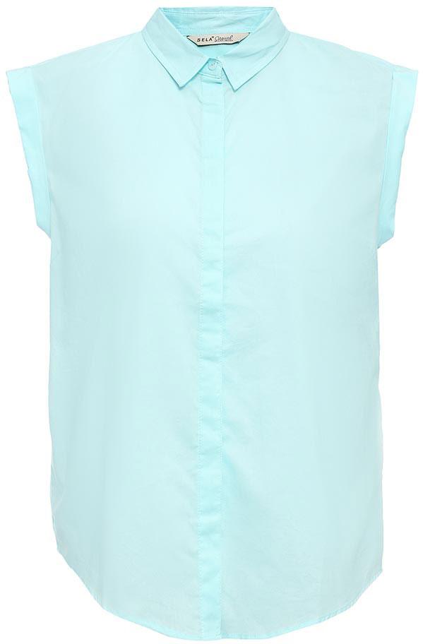 БлузкаBs-112/1262-7263Оригинальная женская блузка Sela выполнена из натурального хлопка. Модель прямого кроя с отложным воротничком и короткими цельнокроеными рукавами застегивается на пуговицы, скрытые планкой. Блузка подойдет для офиса, прогулок и дружеских встреч и будет отлично сочетаться с джинсами и брюками, и гармонично смотреться с юбками. Мягкая ткань комфортна и приятна на ощупь.