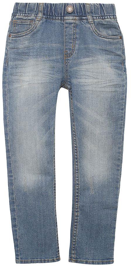 ДжинсыPJ-735/059-7213Стильные джинсы для мальчика Sela выполнены из качественного эластичного хлопка с эффектом потертостей. Джинсы зауженного кроя и стандартной посадки на талии имеют широкий пояс на мягкой резинке, дополненный шлевками для ремня. Изделие оформлено имитацией ширинки и декоративной пуговицей. Модель представляет собой классическую пятикарманку: два втачных и один маленький накладной кармашек спереди и два накладных кармана сзади