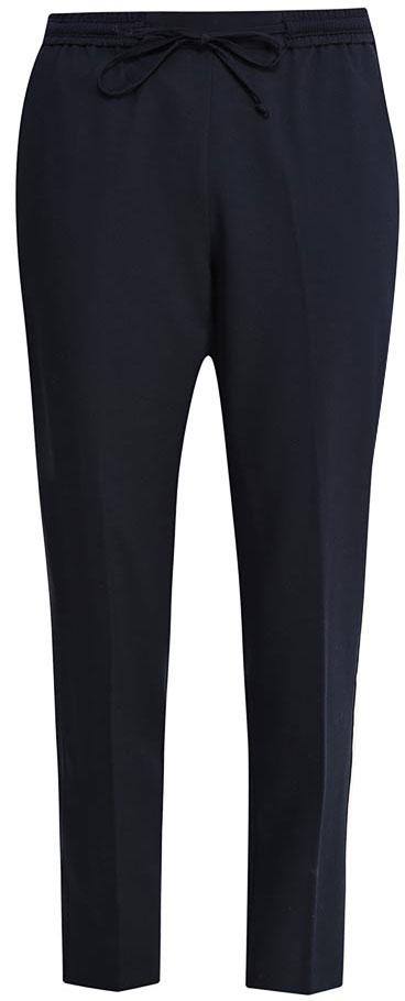 БрюкиP-115/152-7152Стильные укороченные брюки Sela, изготовленные из качественного эластичного материала, станут отличным дополнением гардероба в летний период. Брюки силуэта морковь (свободные на бедрах, с зауженными к низу штанинами) и стандартной посадки на талии имеют широкий пояс на мягкой резинке, дополнительно регулируемый шнурком. Модель дополнена двумя втачными карманами спереди и прорезным карманом сзади.