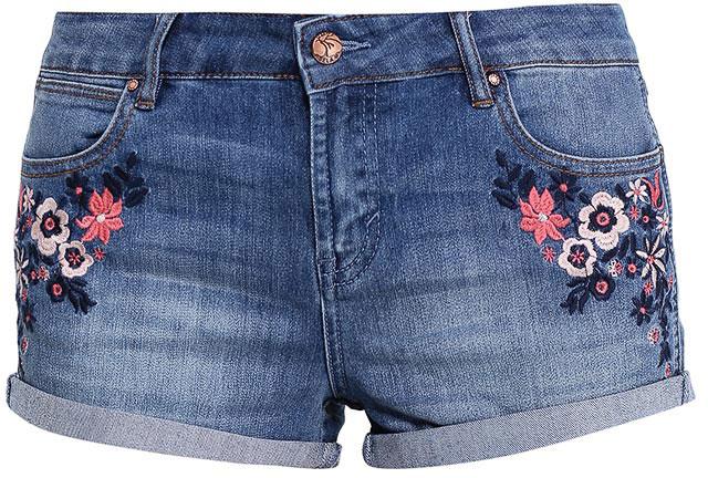ШортыSHJ-335/794-7213Женские джинсовые шорты Sela, изготовленные из качественного хлопкового материала с эффектом потертостей, станут отличным дополнением гардероба в летний период. Короткие шорты прилегающего кроя и стандартной посадки на талии застегиваются на застежку-молнию и пуговицу и оформлены цветочной вышивкой. На поясе имеются шлевки для ремня. Модель дополнена двумя втачными и накладным карманами спереди и двумя накладными карманами сзади.