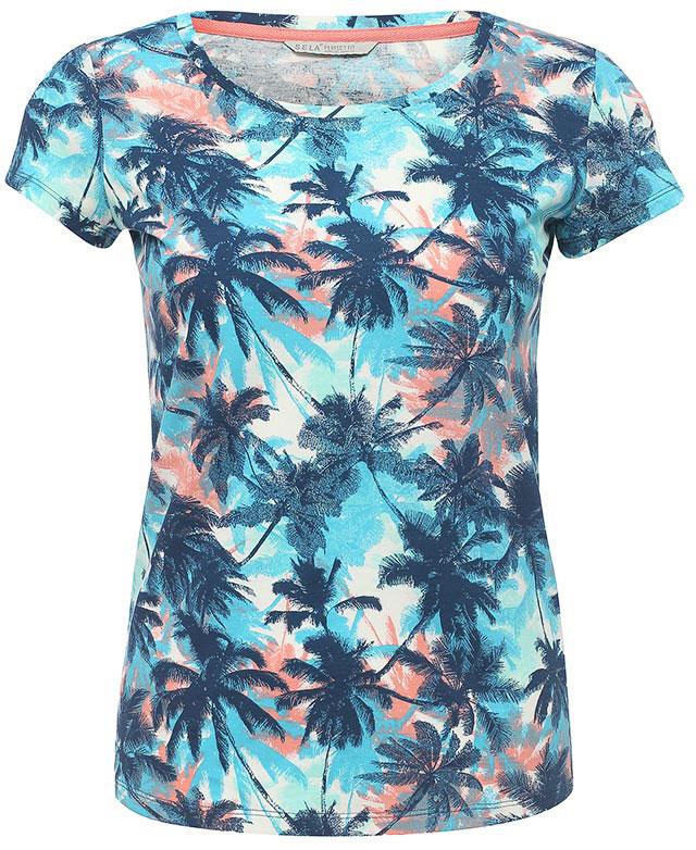 ФутболкаTs-111/1244-7234Оригинальная женская футболка Sela станет отличным дополнением к гардеробу каждой модницы. Модель полуприлегающего силуэта изготовлена из натурального хлопка и оформлена ярким принтом. Воротник дополнен мягкой эластичной бейкой. Универсальный цвет позволяет сочетать модель с любой одеждой.