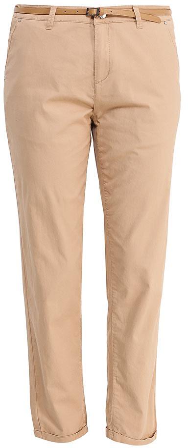 БрюкиP-115/832-7233Стильные укороченные брюки-чинос Sela, изготовленные из качественного эластичного материала, станут отличным дополнением вашего гардероба. Брюки стандартной посадки на талии застегиваются на застежку-молнию и пуговицу. На поясе имеются шлевки для ремня. Модель дополнена двумя втачными карманами спереди и двумя прорезными карманами сзади. В комплект с брюками входит узкий ремень из искусственной кожи.