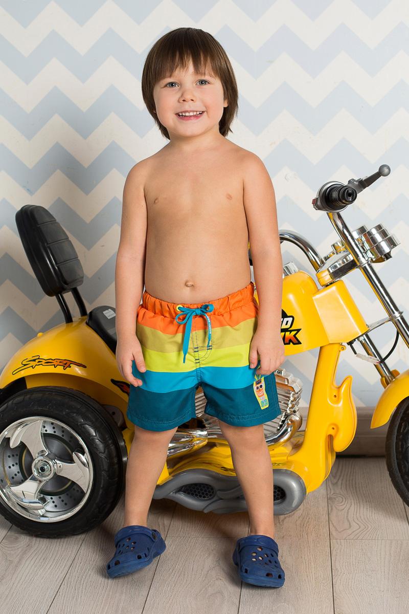 Шорты для плавания711030Пляжные шорты для мальчика Sweet Berry, изготовленные из качественного материала, - идеальный вариант, как для купания, так и для отдыха на пляже. Модель с вшитыми сетчатыми трусиками на поясе имеет эластичную резинку, регулируемую шнурком, благодаря чему шорты не сдавливают живот ребенка и не сползают. Изделие оформлено принтом в полоску и аппликацией и дополнено имитацией ширинки. Шорты быстро сохнут и сохраняют первоначальный вид и форму даже при длительном использовании.
