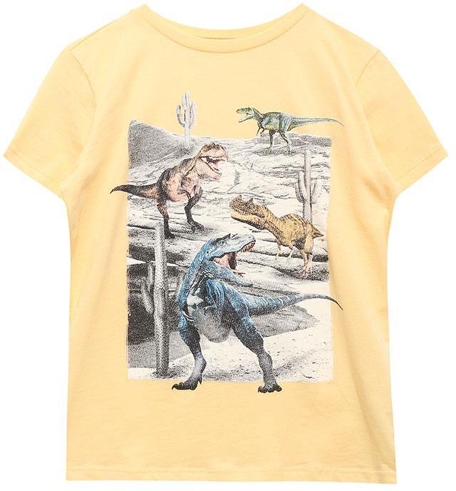 ФутболкаTs-811/582-7214Стильная футболка для мальчика Sela изготовлена из натурального хлопка и оформлена оригинальным принтом. Воротник дополнен мягкой трикотажной резинкой. Яркий цвет модели позволяет создавать модные образы.