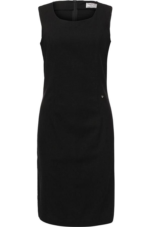 ПлатьеS17-12043_200Платье Finn Flare выполнено из льна, вискозы и эластана. Модель с круглым вырезом горловины сзади застегивается на застежку-молнию.