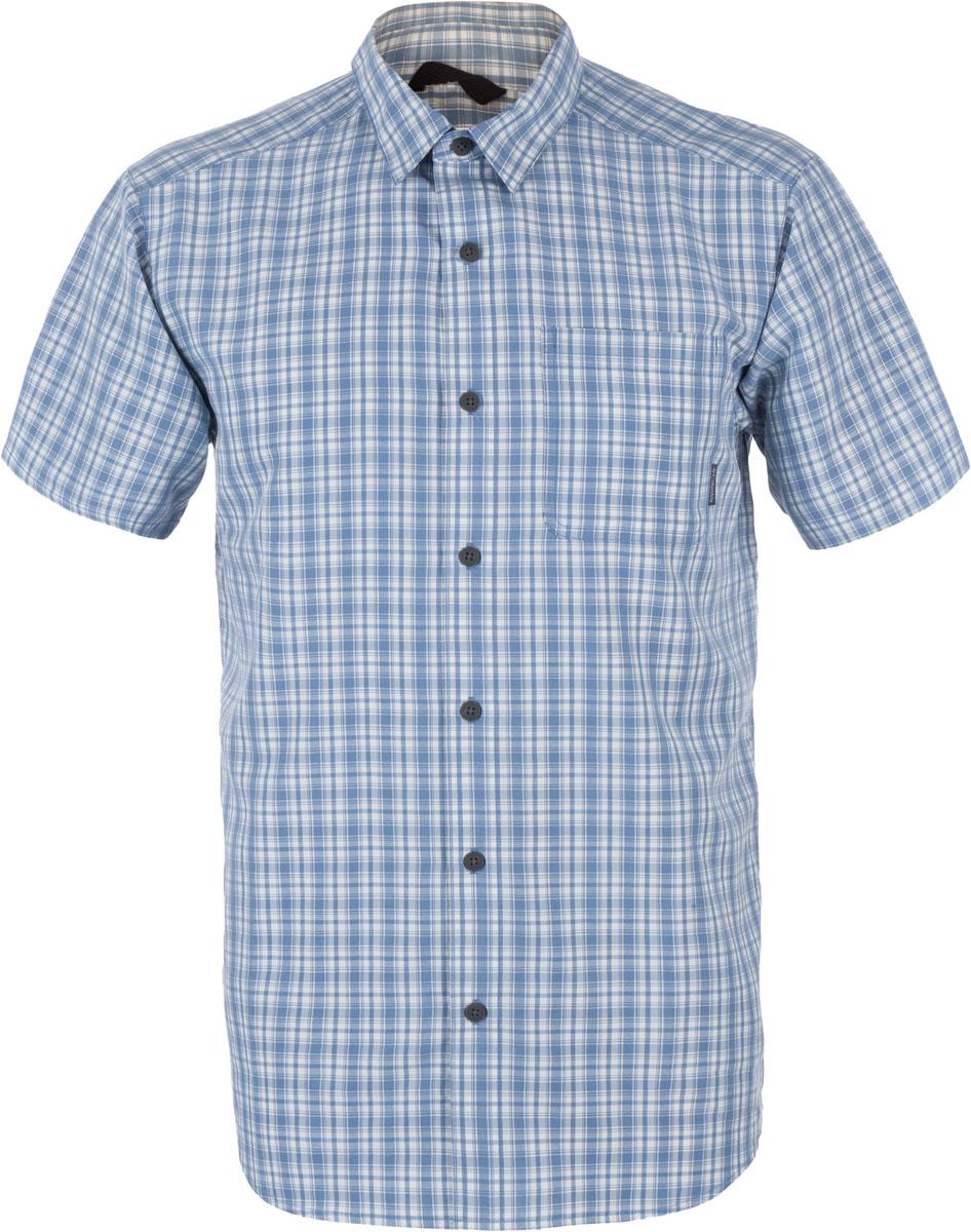 Рубашка1577801-005Мужская рубашка Columbia Endless Trail II SS изготовлена из модала и полиэстера. Модель Regular Fit с отложным воротником и короткими рукавами застегивается на пуговицы. Спереди расположен накладной карман. Изделие оформлено принтом в клетку.