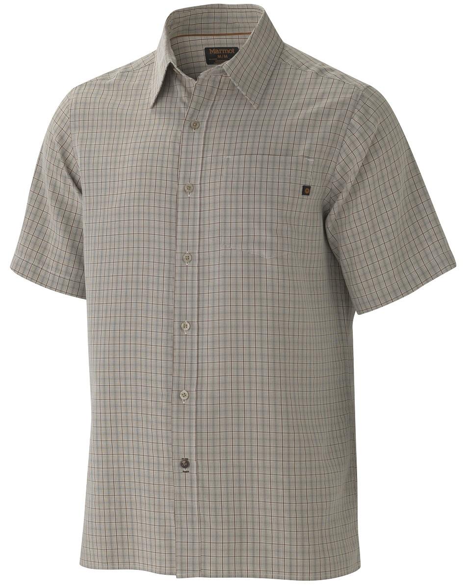 Рубашка62220-3088Симпатичная рубашка с коротким рукавом Eldridge SS быстро станет любимой вещью в вашем гардеробе, а также обеспечит надежную защиту от вредного воздействия ультрафиолетового излучения. Смесовая ткань необычайно приятна на ощупь, а рисунок хорошо сочетается с любыми вещами. Особенности: Marmot UpCycle® с использованием переработанного полиэстера|Мягкая ткань средней толщины обработанная песком|Фактор защиты от ультрафиолетового излучения (UPF) 20|Прочные плоские швы с контрастной внутренней прострочкой|Прямой крой нижней части и один накладной карман|