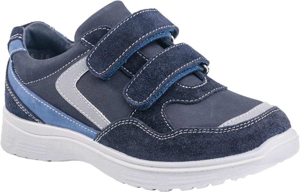 Кроссовки532134-22/632213-22Модные кроссовки для мальчика от Котофей выполнены из натуральной кожи. Подкладка и стелька из натуральной кожи комфортны при движении. Ремешки с застежками-липучками надежно зафиксируют модель на ноге. Подошва дополнена рифлением.