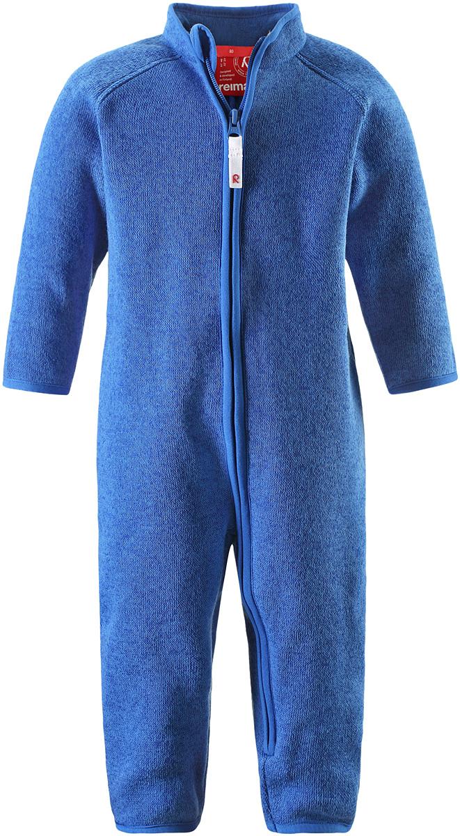 Комбинезон утепленный5162893360Флисовый комбинезон для малышей сверху имеет вязаную структуру, а с изнаночной стороны пушистую флисовую поверхность. Модель сшита из теплого и дышащего материала, зимой она будет самой удобной одеждой промежуточного слоя, а в теплое время года послужит отличной верхней одеждой. Молния во всю длину поможет вам легко одеть вашего ребенка в этот теплый и удобный флисовый комбинезон.