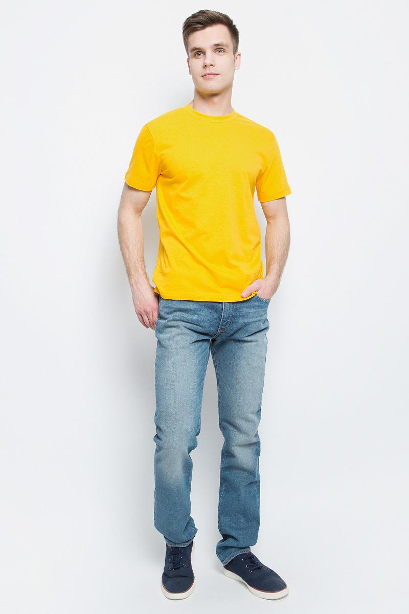 Футболка13213Мужская футболка StarkСotton выполнена из натурального хлопка. Модель с круглым вырезом горловины и короткими рукавами удобна для повседневной носки, а также подходит для занятий спортом.