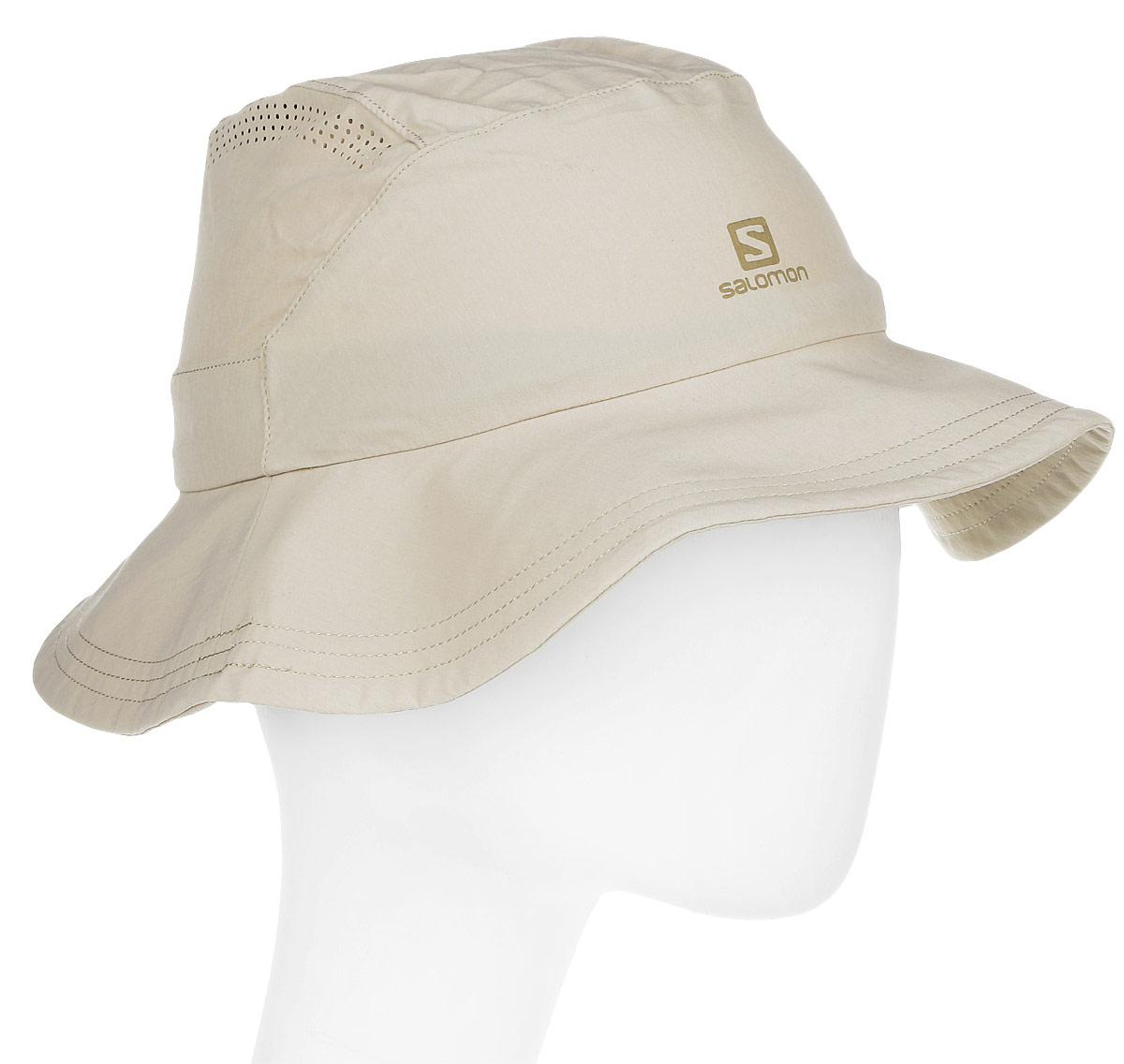 ПанамаL39326100Панама Salomon Mountain Hat, изготовленная из эластичного полиамида, защитит вас от дождя и солнца. Модель с широкими гибкими жесткими полями быстро и компактно складывается. Тулья дополнена шнурком-кулиской со стопперами. Панама имеет перфорацию сверху.
