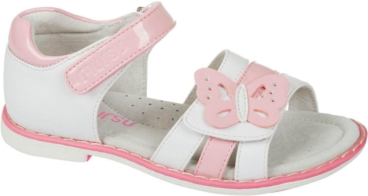 Босоножки101257Босоножки для девочки Mursu выполнены из качественной искусственной кожи и оформлены декоративной бабочкой. Ремешок с липучкой обеспечит оптимальную посадку модели на ноге. Кожаная стелька придаст максимальный комфорт при движении.