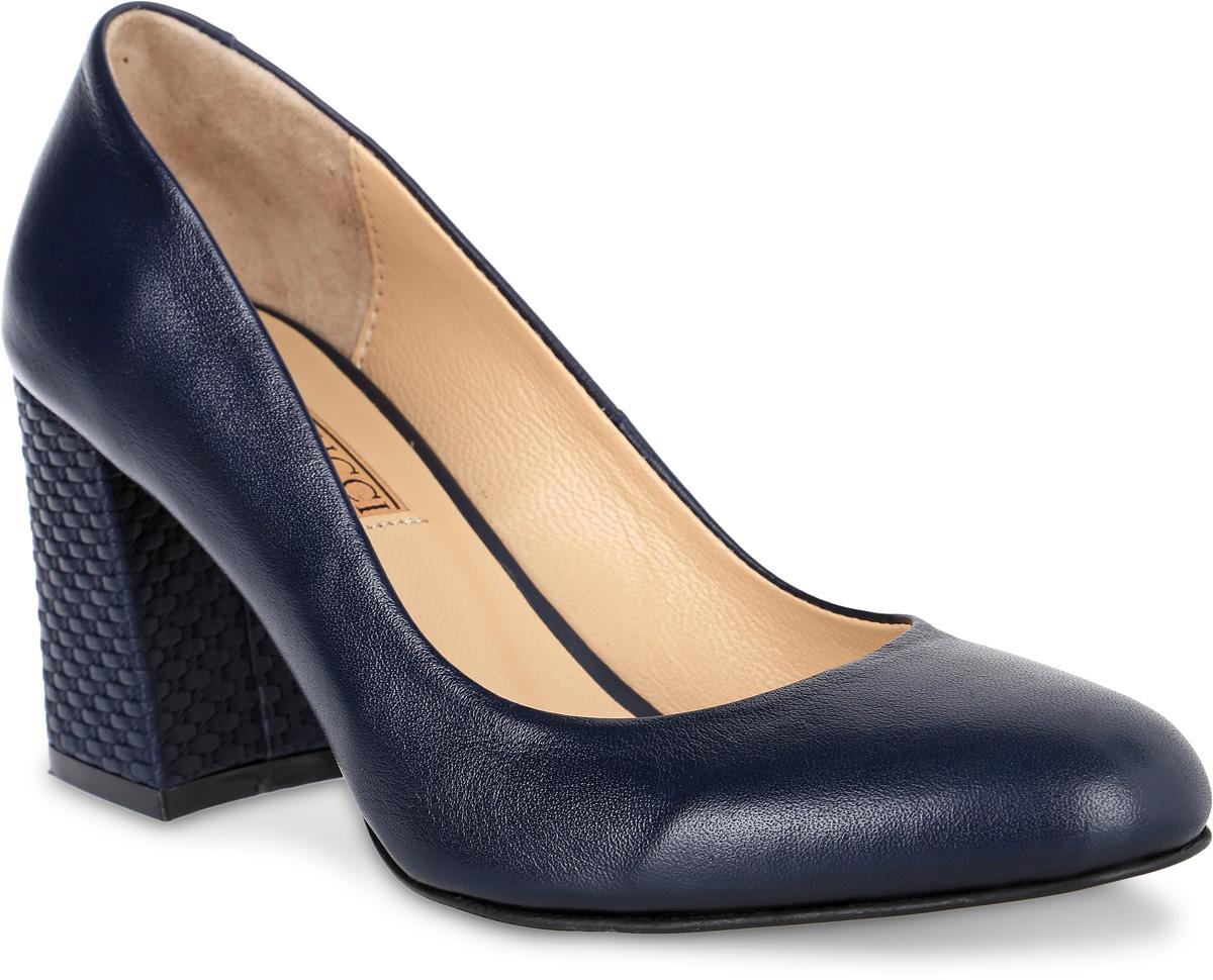 Туфли6060_кожаИзысканные женские туфли от Benucci поразят вас своим дизайном! Модель выполнена из натуральной кожи. Подкладка и стелька - из натуральной кожи позволят ногам дышать и обеспечат максимальный комфорт при ходьбе. Зауженный носок добавит женственности в ваш образ. Высокий толстый каблук декорирован плетением. Подошва с резиновой вставкой обеспечивает отличное сцепление с поверхностью. Модные туфли подчеркнут вашу яркую индивидуальность, позволят выделиться среди окружающих.