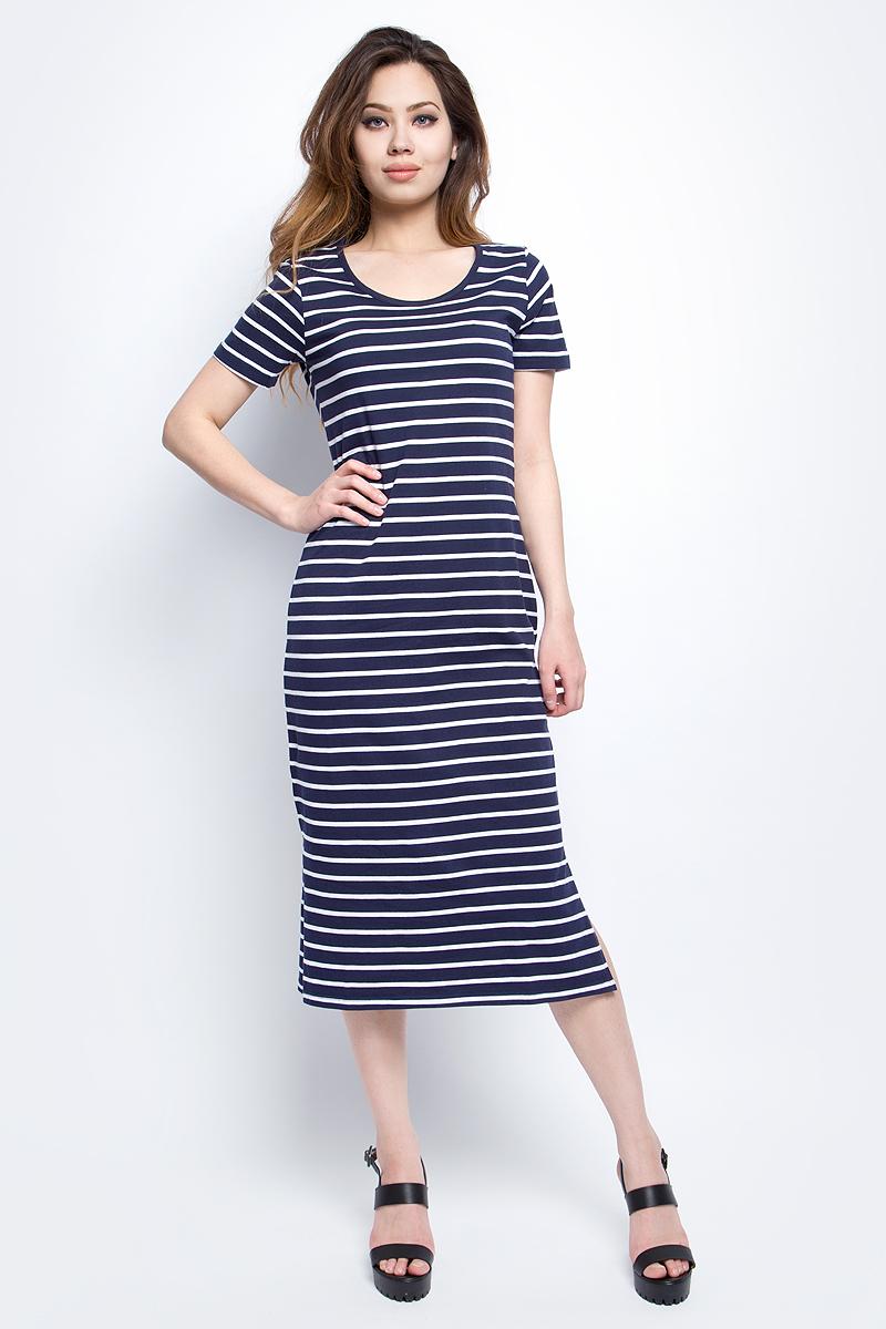 ПлатьеB457099_Dark Navy Striped