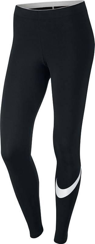 Леггинсы830337-010Тайтсы Nike Womens Sportswear из невероятно мягкой ткани с особой технологией. Функциональный материал Dri-FIT обеспечивает комфорт. Вставка в области шагового шва увеличивает диапазон движений, отвороты с плотной посадкой позволяют полностью сконцентрироваться на спорте.