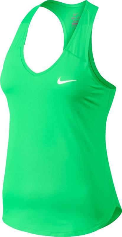 Майка728739-300Женский теннисный топ Nike Pure выполнен из мягкой ткани Dri-FIT, которая отводит влагу от кожи, оставляет тело сухим и обеспечивает комфорт. Т-образная спина обеспечивает естественность движений во время игры на корте. Ткань Dri-FIT отводит влагу, сохраняет тело сухим и гарантирует комфорт. Горловина с V-образным вырезом для удобной посадки. Т-образная спина не сковывает движений. Кромка в стиле «долфин» обеспечивает абсолютную свободу движений.