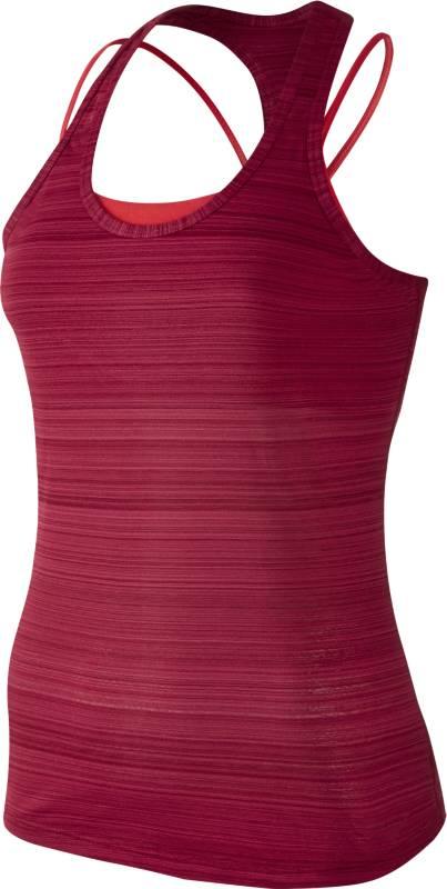 Майка726457-620Майка Nike Victory из эластичного текстиля с технологией Dri-Fit. Функциональная ткань отводит влагу от тела, оставляя кожу сухой. Прилегающий крой, высокая степень поддержки, облегченная сетчатая спинка-борцовка, конструкция плоских швов.