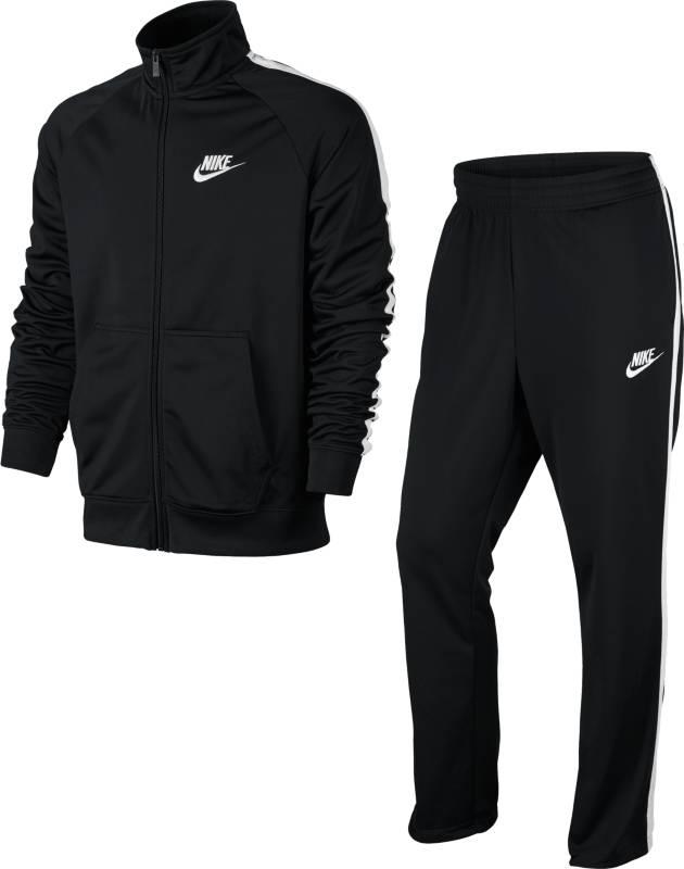 Спортивный костюм840643-010Спортивный костюм Nike M NSW TRK из плотного текстиля. Олимпийка прямого кроя с застежкой на молнию, брюки с эластичным поясом, двумя карманами.
