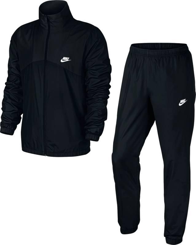 Спортивный костюм832844-010Спортивный костюм Nike M NSW TRK из плотного текстиля. Олимпийка прямого кроя с застежкой на молнию, брюки с эластичным поясом, двумя карманами.