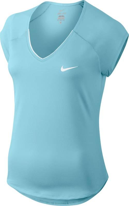 Футболка728757-300Женский теннисный топ Nike Pure создает женственный образ благодаря коротким цельнокроенным рукавам и кромкам в стиле «долфин». Ткани Dri-FIT обеспечивает вентиляцию во время интенсивного матча. Ткань Dri-FIT отводит влагу, сохраняя тело сухим и обеспечивая комфорт. Горловина с V-образным вырезом для удобной посадки. Короткие цельнокроеные рукава не сковывают движений.