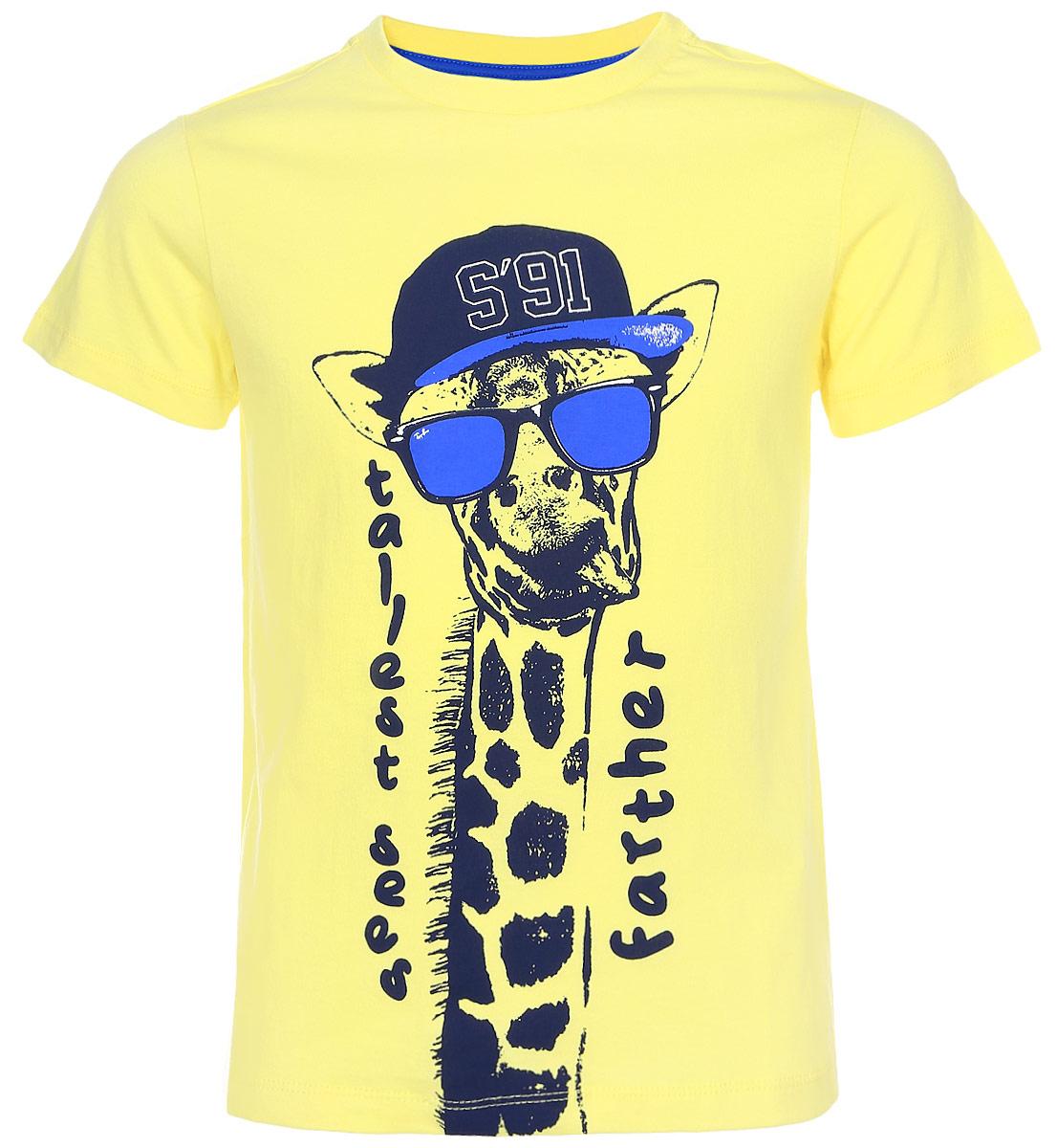 ФутболкаTs-811/600-7223Стильная футболка для мальчика Sela изготовлена из натурального хлопка и оформлена оригинальным принтом. Воротник дополнен мягкой трикотажной резинкой. Яркий цвет модели позволяет создавать модные образы.
