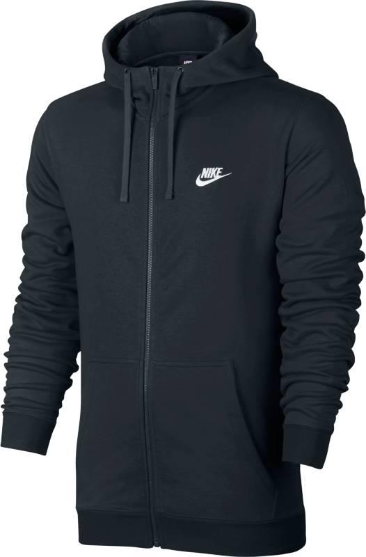 Худи804391-010Джемпер Nike M NSW Hoodie из плотного трикотажа с мягкой ворсистой подкладкой. Прямой крой, застежка на молнию, капюшон на регулируемой кулиске, два кармана по бокам, логотип бренда.