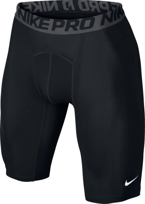 Шорты703086-010Шорты Nike Cool Сomp из влаговыводящей ткани Dri Fit. Прилегающий крой, круглый вырез, длинные рукава, перфорированные вставки по бокам, логотип бренда.