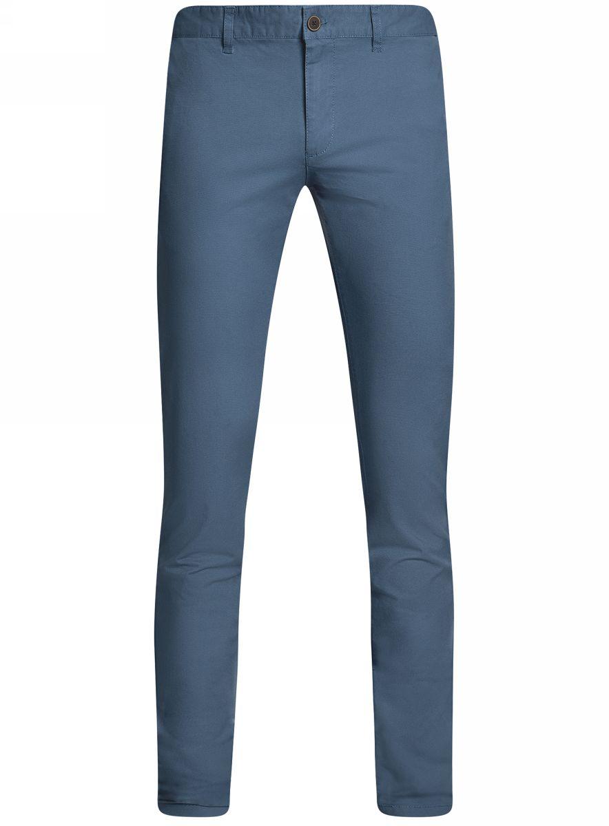 Брюки2L150097M/46640N/7500NМужские брюки oodji Lab выполнены из высококачественного материала. Модель-слим стандартной посадки застегивается на пуговицу в поясе и ширинку на застежке-молнии. Пояс имеет шлевки для ремня. Спереди брюки дополнены втачными карманами, сзади - прорезными на пуговицах.