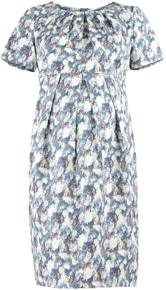 Платье5122512171Платье для беременных Mammy Size выполнено из хлопка и эластана. Модель с круглым вырезом горловины и короткими рукавами.