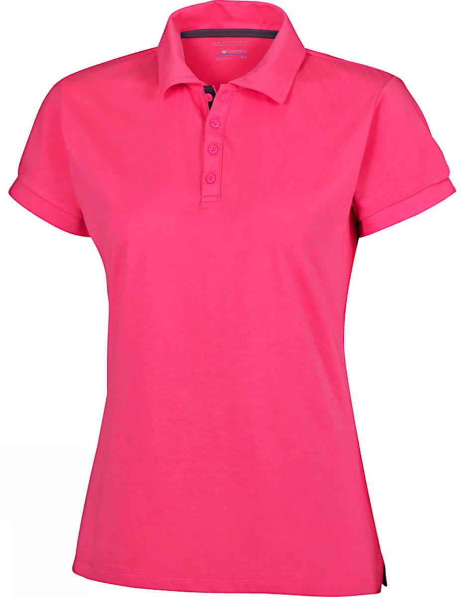 Поло1491681-101Стильная женская футболка-поло Columbia Splendid Summer, изготовленная из хлопка и полиэстера с добавлением эластана, обладает высокой теплопроводностью, воздухопроницаемостью и гигроскопичностью. Технология материала Omni-Wick быстро впитывает влагу и отводит ее от тела. Технология Omni-Shade UPF 30 защищает от ультрафиолетовых лучей. Модель с короткими рукавами и отложным воротником - идеальный вариант для создания современного образа. Сверху футболка-поло застегивается на 4 пуговицы. Манжеты рукавов застегиваются на пуговицы. Нижняя часть модели по боковым швам оформлена небольшими разрезами. Такая футболка подарит вам комфорт в течение всего дня и послужит замечательным дополнением к вашему гардеробу.