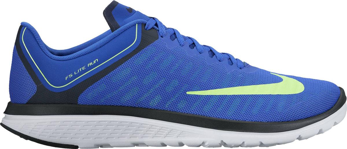 Кроссовки852435-400Обувь для бега Nike Mens Fs из сетчатого воздухопроницаемого текстиля. Модель с перфорацией по бокам для дополнительной вентиляции. Стелька FitSole способствует удобной посадке и обеспечивает амортизацию и поддержку стопы во время тренировки. Литая подошва с рисунком протектора повышает прочность и сцепление с поверхностями. Легкая и гибкая подошва эргономичной формы из резины, удобная шнуровка.