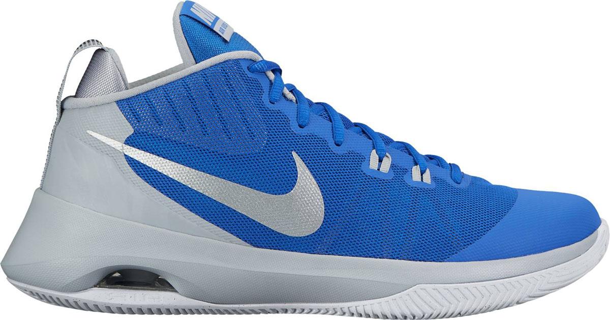Кроссовки852431-400Кроссовки для баскетбола Nike Air из сетчатого текстиля с высокими дышащими характеристиками для оптимального воздухообмена. Воздушная подушка в пятке Nike Max Air эффективно амортизирует ударные нагрузки. Подошва с протектором способствует надежному сцеплению с поверхностью.
