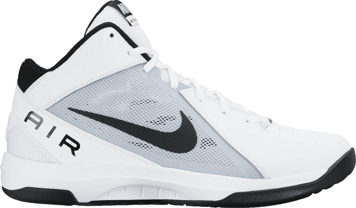 Кроссовки831572-100Баскетбольные высокие кроссовки Nike The Air Overplay Ix из искусственной кожи и текстиля. Стелька Phylon со специальным супинатором для устойчивости, резиновый протектор с рисунком елочка обеспечивает непревзойденное сцепление с поверхностью и предотвращает скольжение.