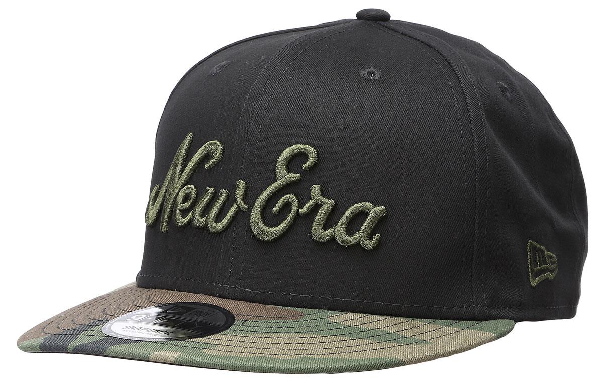 Бейсболка11379753-BLKСтильная бейсболка New Era, выполненная из высококачественного материала, идеально подойдет для прогулок, занятий спортом и отдыха. Изделие оформлено объемным вышитым словосочетанием New Era и логотипом бренда New Era, а козырек исполнен в камуфляжной расцветке Бейсболка надежно защитит вас от солнца и ветра. Эта модель станет отличным аксессуаром и дополнит ваш повседневный образ.