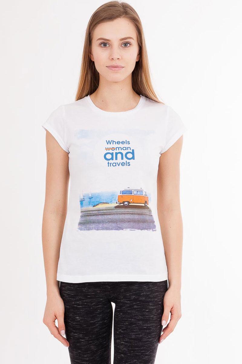 Футболка789-0_13675Стильная женская футболка Mark Formelle изготовлена из 100% натурального хлопка. Материал гипоаллергенный, отлично впитывает влагу и позволяет телу дышать, гарантируя ощущение комфорта. Модель имеет стандартные короткие рукава и круглый вырез горловины. Изделие дополнено ярким оригинальным рисунком.