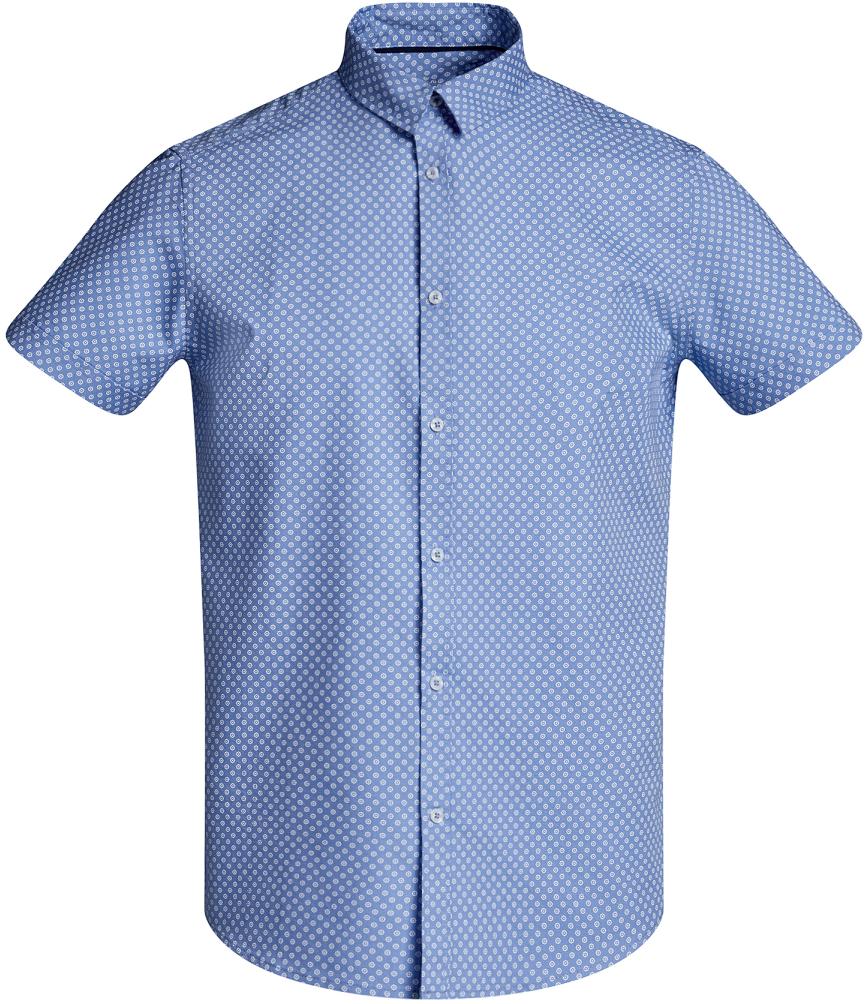 Рубашка3L410096M/46211N/7010GРубашка приталенная с мелким принтом