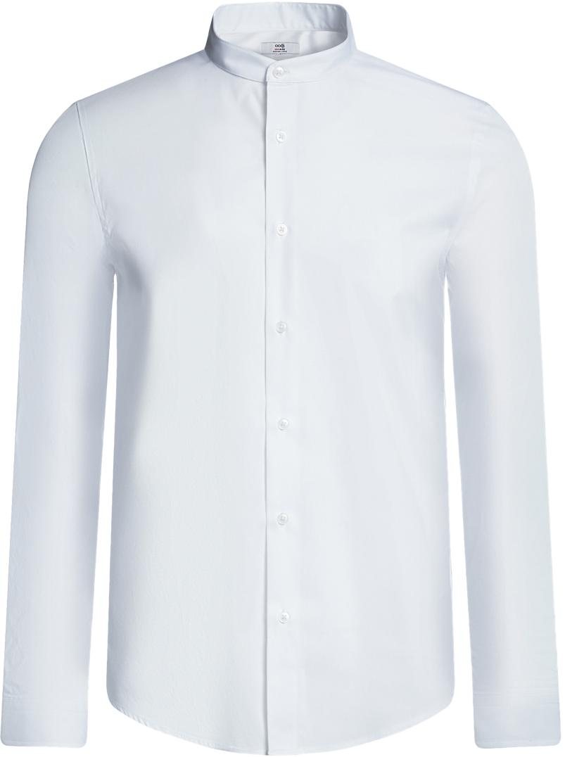 Рубашка3B140004M/34146N/1000NРубашка приталенная с воротником-стойкой