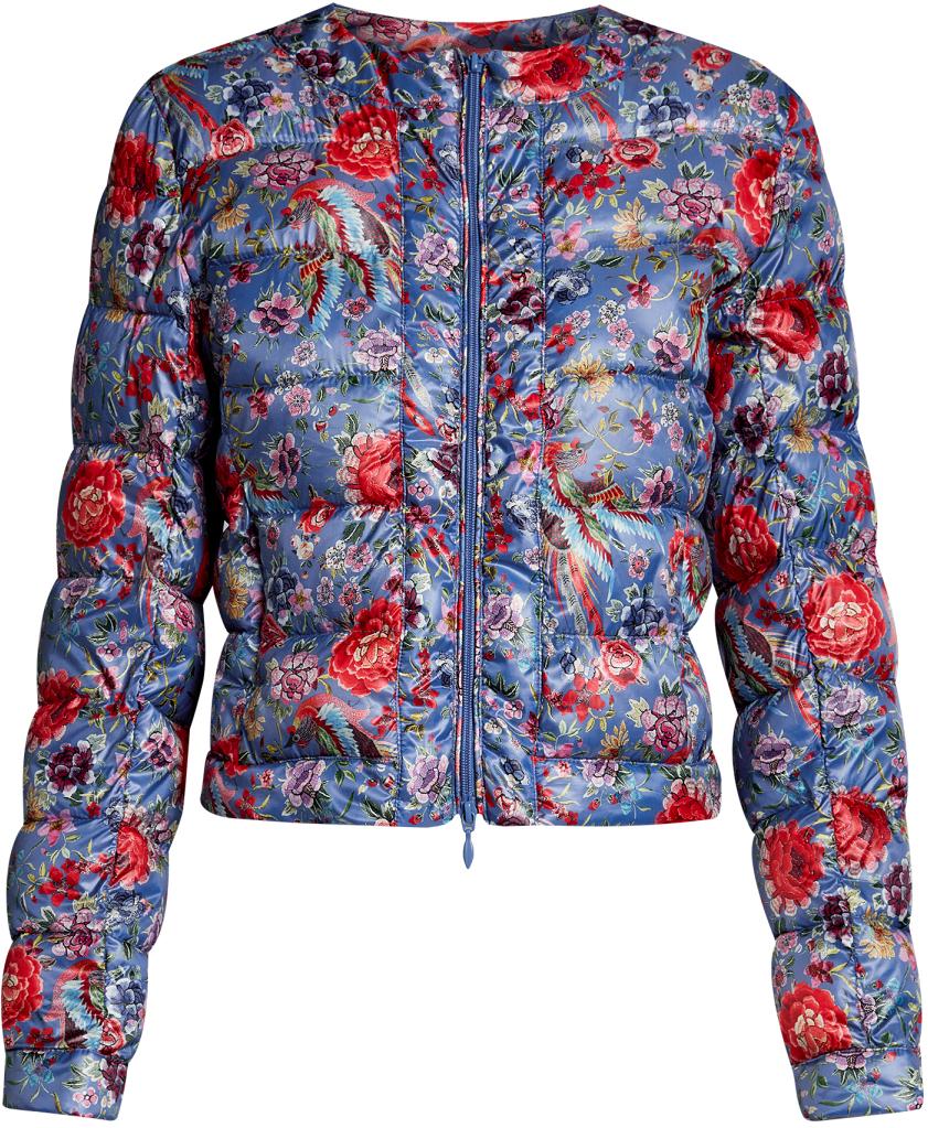 Куртка10203050-1M/42257/7545FЖенская стеганая куртка oodji Ultra выполнена из высококачественного материала, в качестве подкладки используется полиэстер. Утеплитель - синтепон. Модель с круглым вырезом горловины застегивается на застежку-молнию. Спереди расположено два втачных кармана на застежках-молниях.