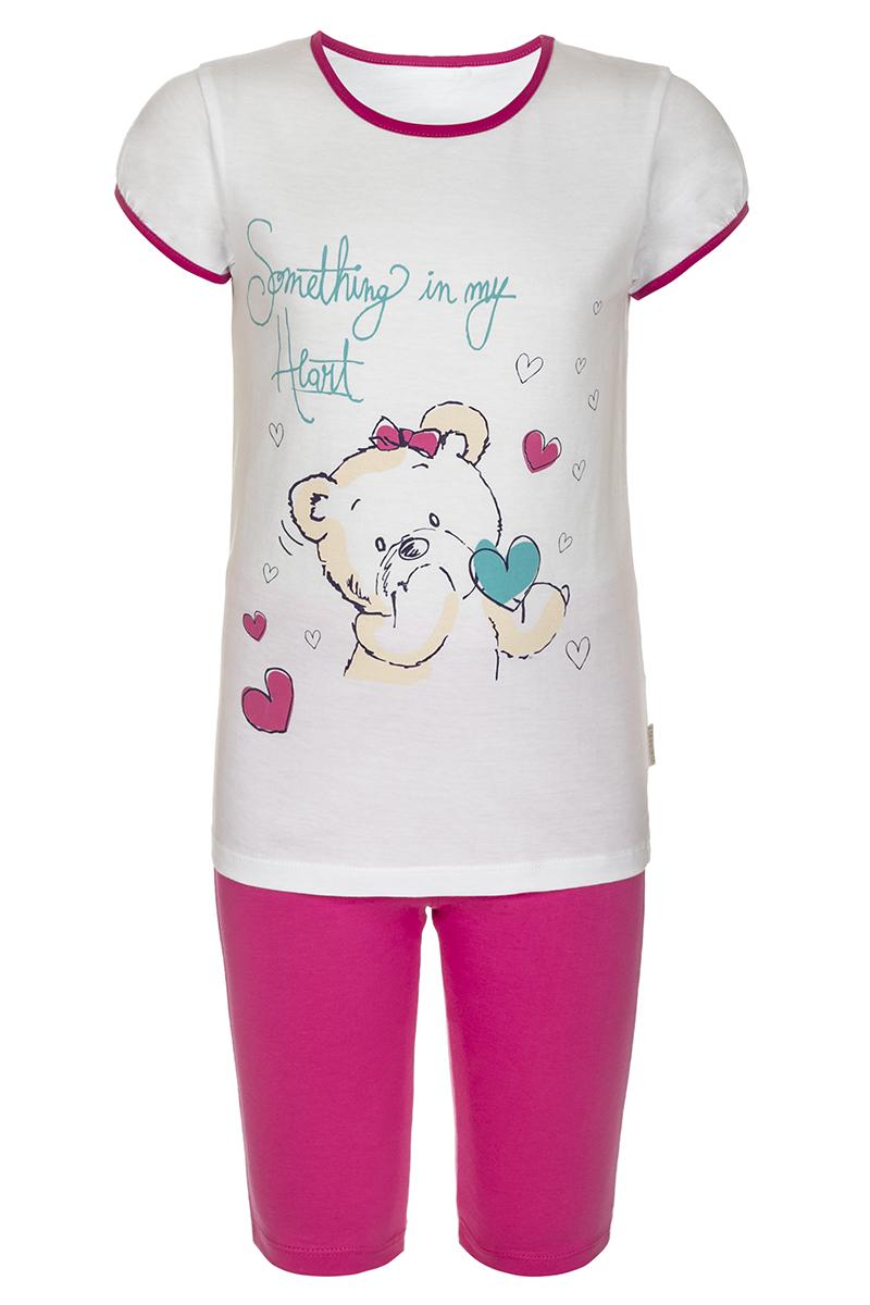 ПижамаПЖ45С0206Пижама для девочки БЕМБІ, выполненная из натурального хлопка, идеально подойдет маленькой принцессе для сна и отдыха. Материал изделия мягкий, тактильно приятный, не сковывает движения, хорошо пропускает воздух. Пижама состоит из футболки и бридж. Футболка с короткими рукавами и круглым вырезом горловины оформлена крупным оригинальным принтом. Бриджи имеют на талии мягкую широкую резинку, благодаря чему они не сдавливают животик ребенка и не сползают. Высокое качество исполнения и дизайн принесут удовольствие от покупки и подарят отличное настроение!