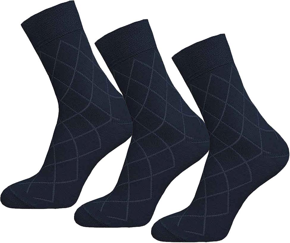Комплект носков15С2224-017Носки мужские гладкие, двойной борт, рисунок по всей длине.