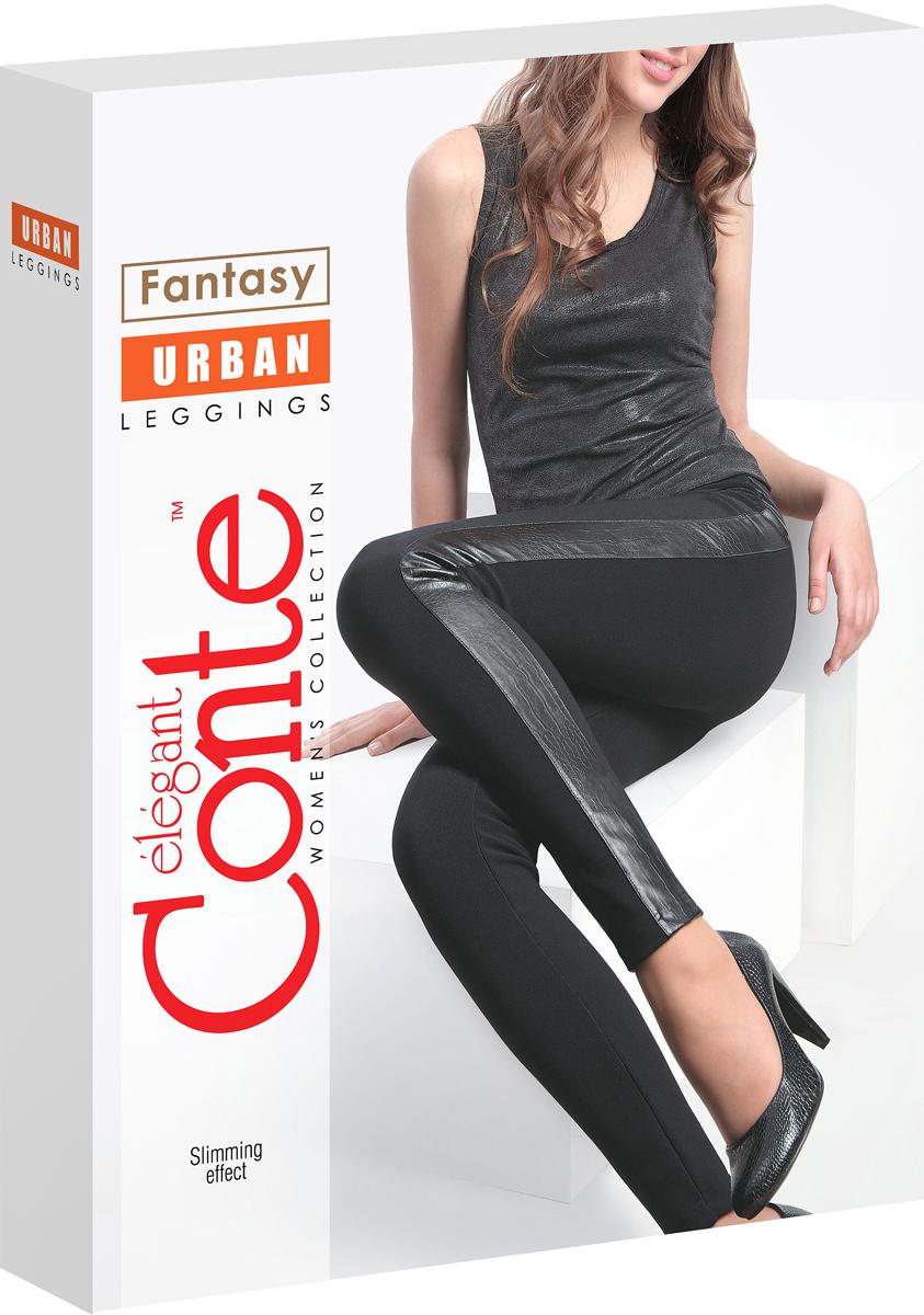 ЛеггинсыUrbanЛеггинсы Conte URBAN. Эластичное полотно, кожаные боковые вставки, плотные. С утягивающим эффектом.