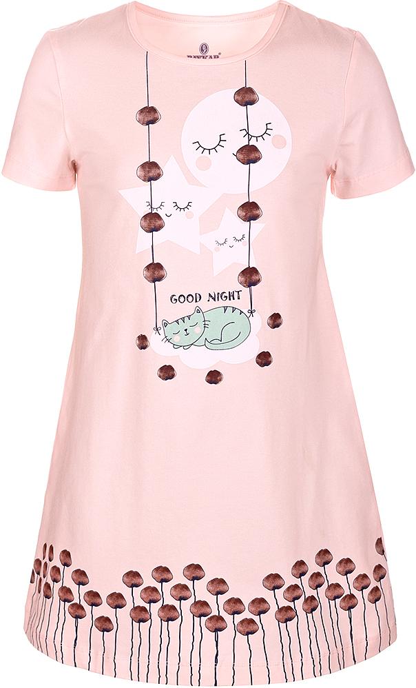 Ночная рубашкаN9322248A-5Ночная рубашка для девочки Baykar подарит не только комфорт и уют, но и понравится ребенку благодаря своему веселому и приятному дизайну. Изготовленная из мягкого хлопка, она тактильно приятна, хорошо пропускает воздух, а благодаря свободному крою не стесняет движений во сне.