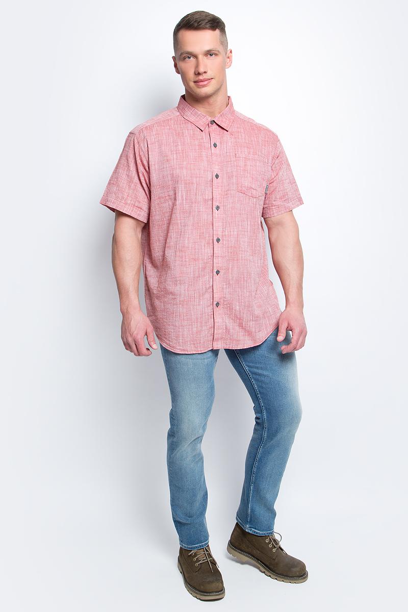 Рубашка1715221-492Мужская рубашка Columbia Under Exposure YD SS изготовлена из натурального хлопка. Модель Regular Fit с отложным воротником и короткими рукавами застегивается на пуговицы. Спереди расположен накладной карман.