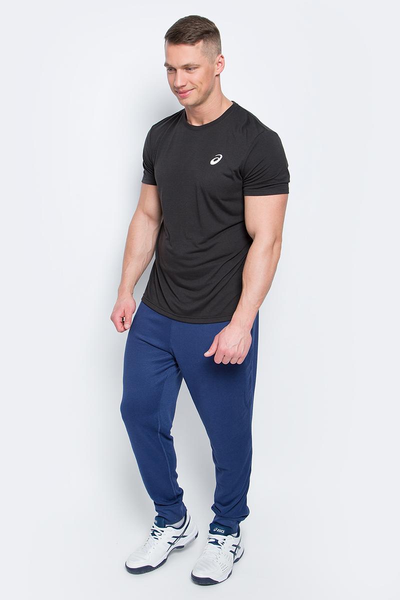 Футболка141099-0714Мужская футболка Spiral Top от Asics выполнена из полиэстера с добавлением вискозы и эластана. У модели круглый вырез горловины и стандартные короткие рукава. Спереди изделие декорировано логотипом бренда.