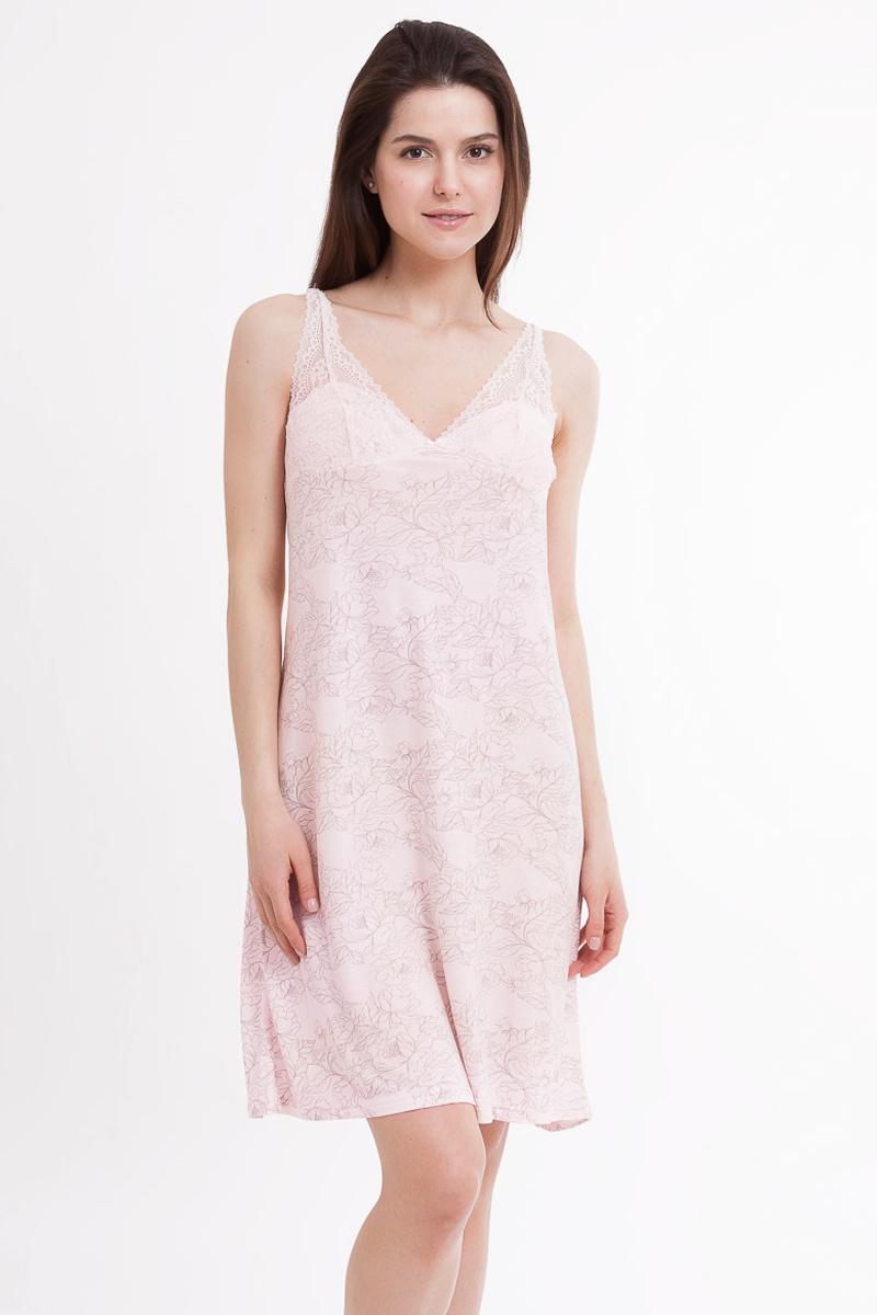 Ночная рубашка1642-8_572313Ночная сорочка Mark Formelle выполнена из шелковистой вискозы. Материал гипоаллергенный, отлично впитывает влагу и позволяет телу дышать, гарантируя ощущение комфорта и, как следствие, спокойный сон и качественный отдых. Модель украшена изящным цветочным узором и тонким кружевом. Сорочка снабжена бретельками регулируемой длины, имеет V-образный вырез и длину миди.