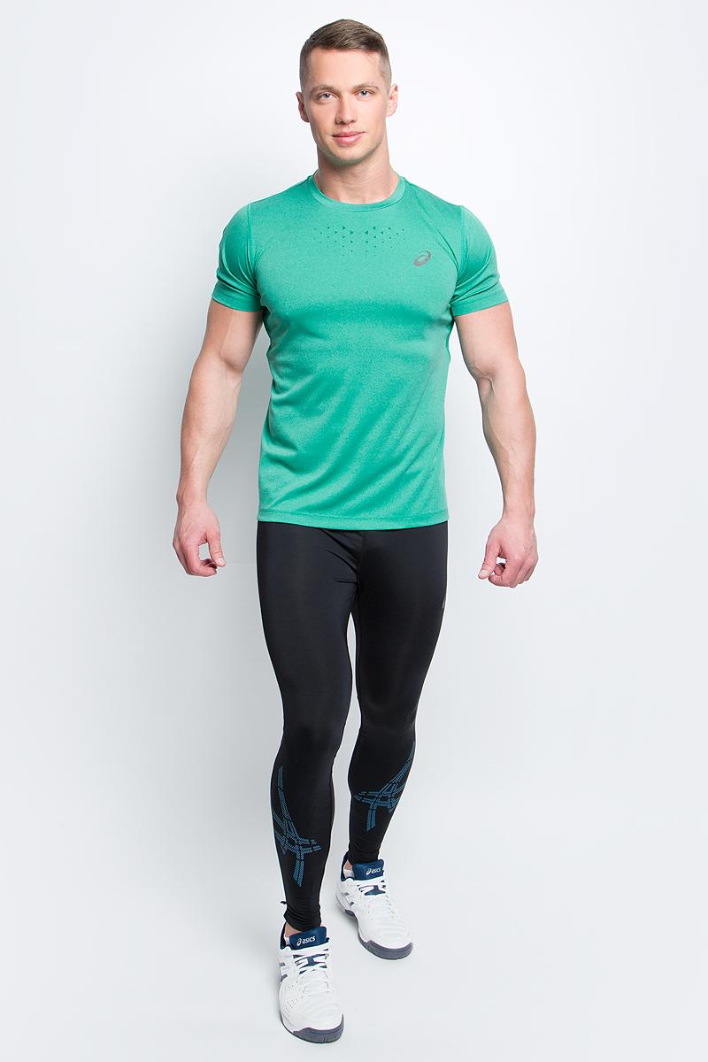 Футболка141198-0773Мужская футболка Asics выполнена из эластичного полиэстера. У модели классический круглый ворот и короткие стандартные рукава. Изделие оформлено дышащими вставками и дополнено светоотражающими деталями. Технология Motion Dry позволяет выводить влагу, оставляя тело сухим и сохраняя его оптимальный температурный режим.